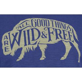 United By Blue Wild & Free Camiseta Manga Corta Hombre, blue